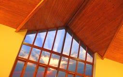 窗口日出视图 图库摄影