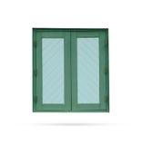 窗口木现代老在白色背景 免版税图库摄影