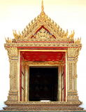 窗口泰国寺庙艺术  免版税库存图片