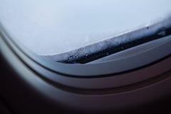 窗口特写镜头在霜的 免版税库存照片