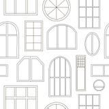 窗口的不同的类型 免版税库存照片