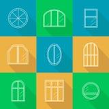 窗口的不同的类型 免版税库存图片