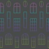 窗口的不同的类型 库存图片