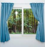 从窗口的日出视图 图库摄影