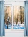 从窗口的看法在 免版税库存图片