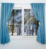 从窗口的看法在 免版税图库摄影