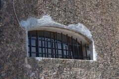 窗口篱芭irongate ironfence 免版税库存图片