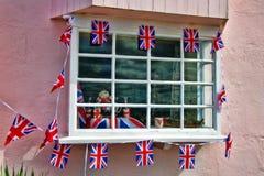 窗口装饰|周年纪念样式 免版税库存照片