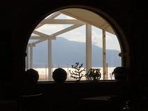 从窗口西西里岛的看法 库存图片