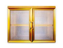 窗口金子颜色 图库摄影