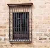 窗口铁花格在阿亚蒙特西班牙 图库摄影