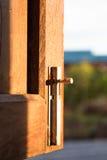 窗口门闩 免版税图库摄影