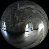 窗口隧道冰川国家公园 免版税库存图片
