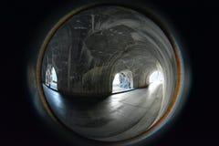 窗口隧道冰川国家公园 免版税图库摄影