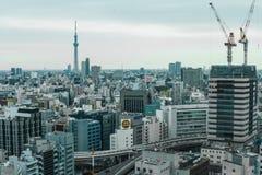 从窗口,东京,日本形成 库存照片