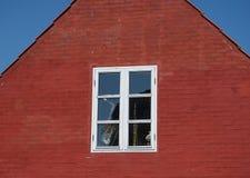 窗口,博恩霍尔姆,丹麦 库存照片