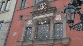 窗口,格子,中世纪大厦 股票录像