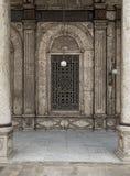 窗口,穆罕默德・阿里巴夏清真寺,开罗,埃及城堡  免版税图库摄影