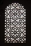 窗口 Dar Si说宫殿 马拉喀什 摩洛哥 库存图片