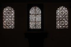 窗口 Dar Si说宫殿 马拉喀什 摩洛哥 免版税库存照片