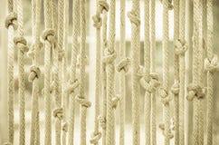 窗帘做了†‹â€ ‹绳索 免版税库存图片