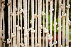 窗帘做了†‹â€ ‹绳索 库存图片