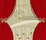 窗帘再来一次红色 库存图片