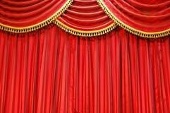 窗帘剧院 库存照片