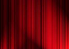 窗帘剧院 免版税库存照片