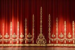 窗帘剧院 免版税图库摄影