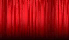 窗帘剧院 库存例证