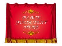 窗帘框架红色向量 免版税库存照片
