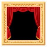 窗帘框架 免版税库存照片