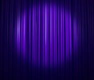 窗帘淡紫色 图库摄影