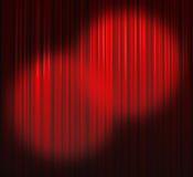 窗帘深红地点二 图库摄影