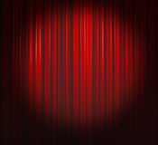窗帘深红聚光灯 免版税库存照片