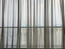 窗帘的背景 免版税图库摄影