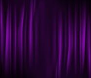 窗帘紫色 向量例证