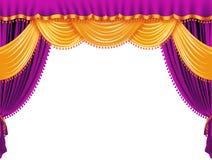 窗帘紫色 皇族释放例证