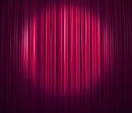 窗帘紫色 免版税库存照片