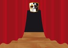 窗帘红色剧院向量 免版税库存图片