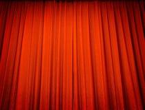 窗帘红色剧院 免版税库存照片