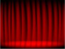 窗帘红色剧院 库存例证