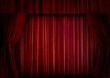 窗帘红色天鹅绒 免版税库存照片