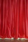 窗帘红色天鹅绒 免版税库存图片