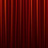 窗帘红色无缝 免版税库存照片