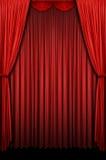 窗帘红色阶段 图库摄影