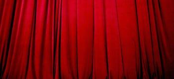 窗帘红色阶段 免版税库存图片