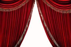 窗帘红色 免版税库存照片