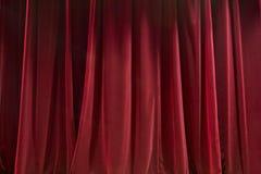 窗帘红色 库存图片